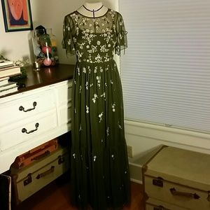 Adrianna Papell embellished maxi dress